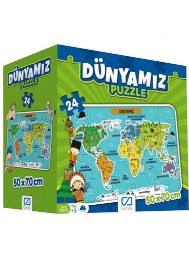 CA Games Ca Games 5025 Dünyamız 24 Parça Puzzle 50X70 Cm Renkli